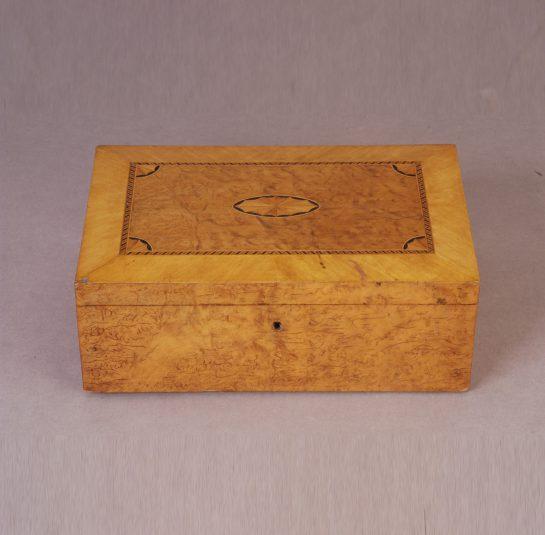 Maple and Burl Elm Document Box