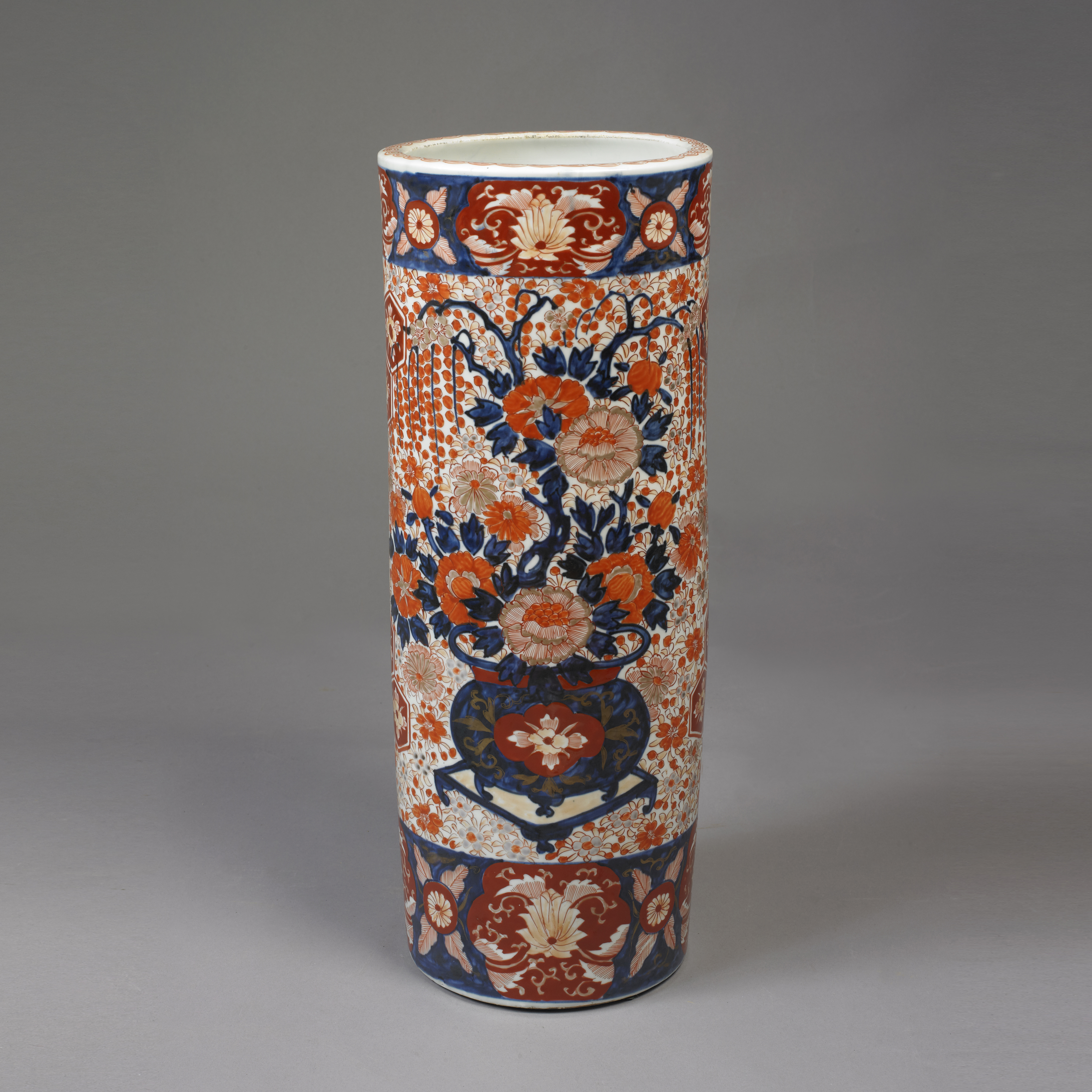 Imari Umbrella Stand Jeffrey Tillou Antiques focus for Japanese Imari Porcelain Umbrella Stand
