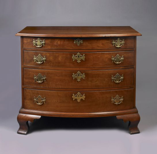 Transitional Chippendale Bow Front Chest