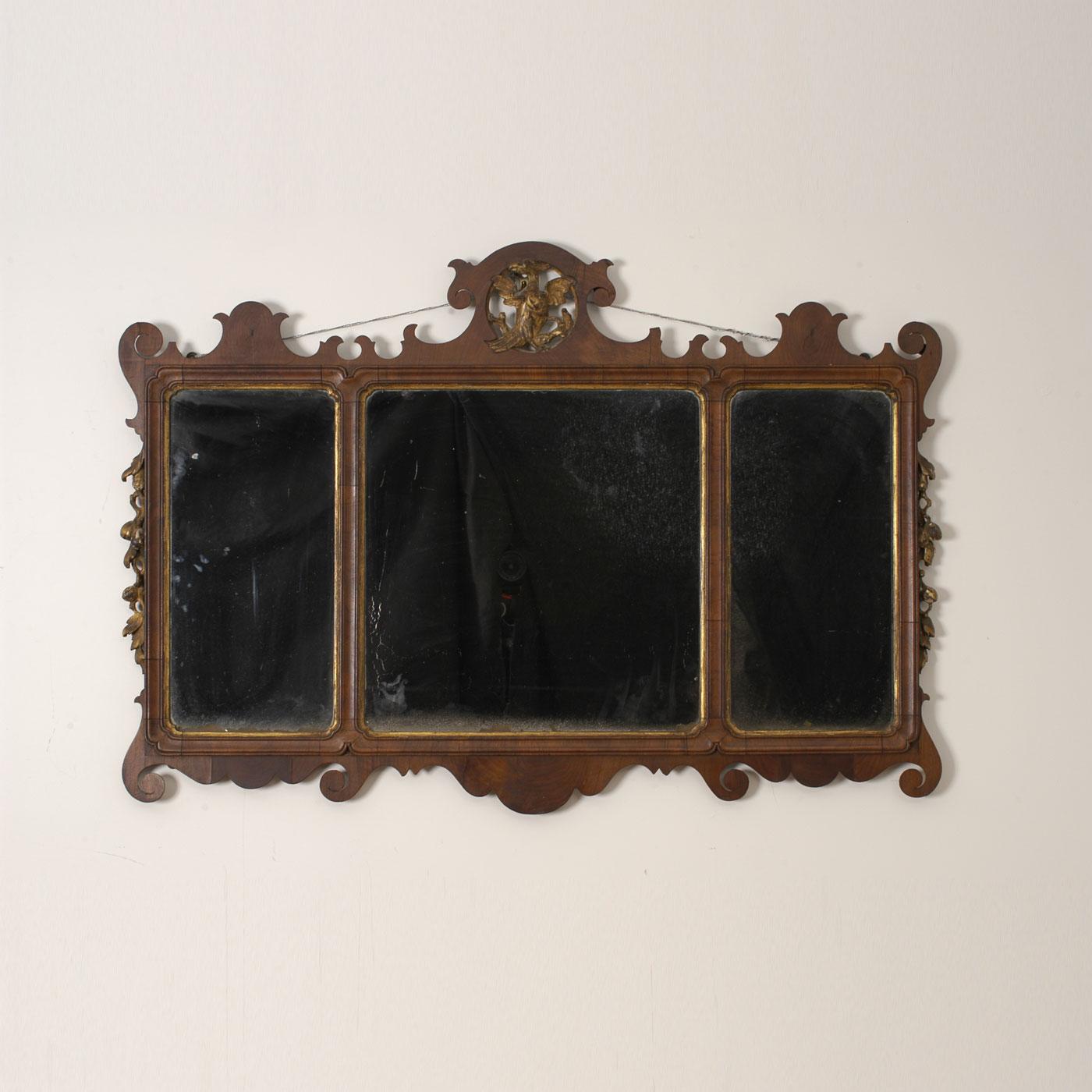Chippendal over mantle mirror jeffrey tillou antiques for Mantle mirror