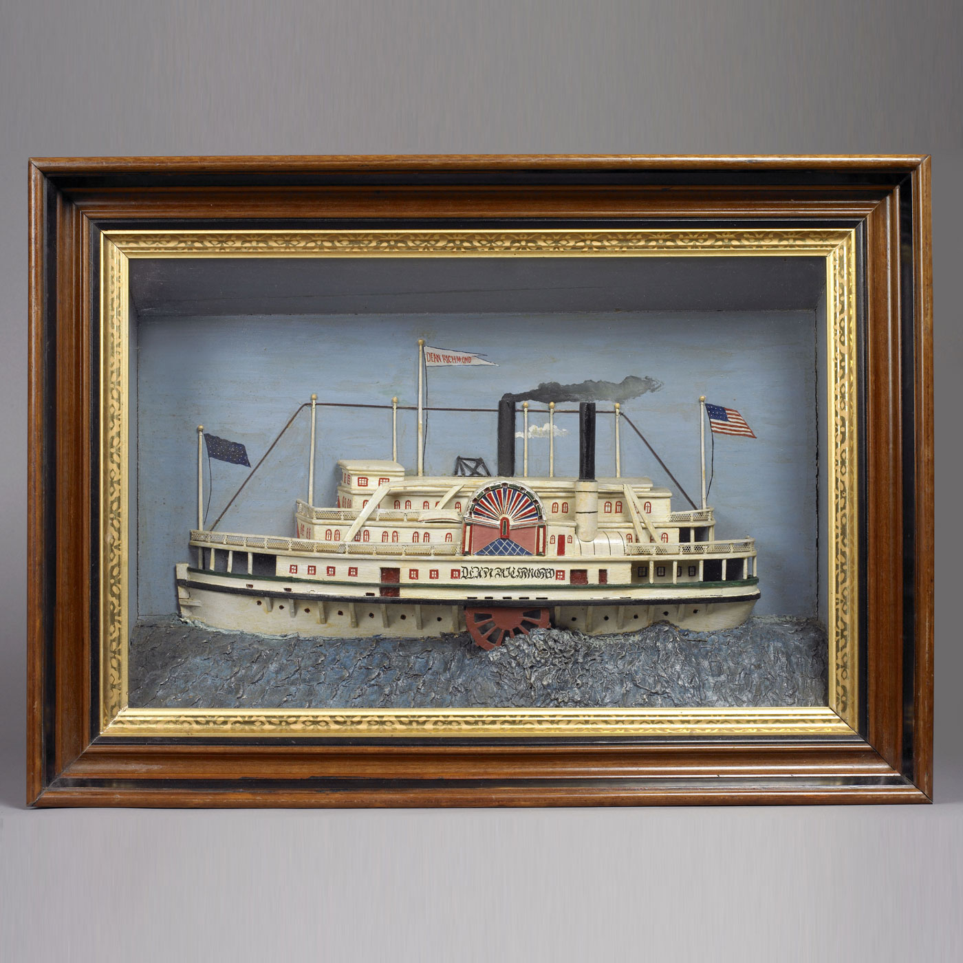 "Ship Diorama ""Dean Richmond"" • Jeffrey Tillou Antiques"