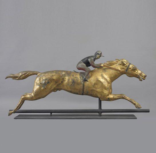 Horse and Jockey Weathervane