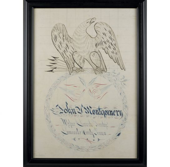 Two Eagle Calligraphy Drawings Jeffrey Tillou Antiques