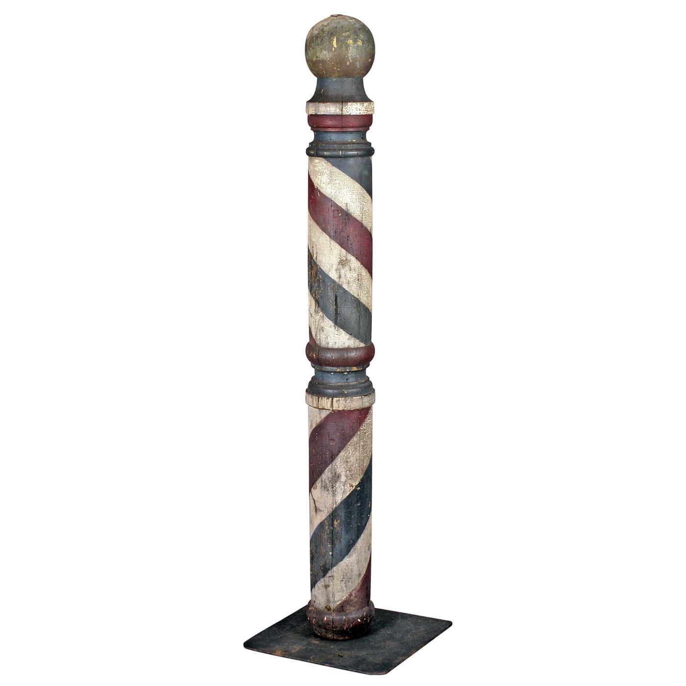 Turned Barber Pole Trade Sign Jeffrey Tillou Antiques