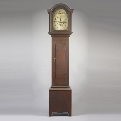 Paint Decorated Tall Case Clock