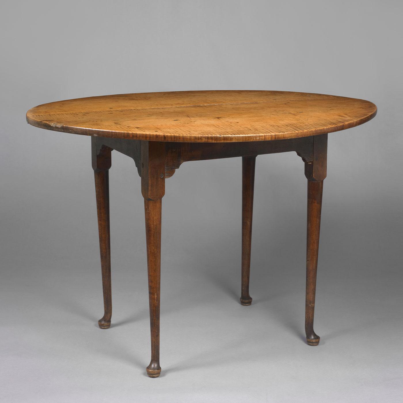 Queen Anne Oval Top Tea Table • Jeffrey Tillou Antiques