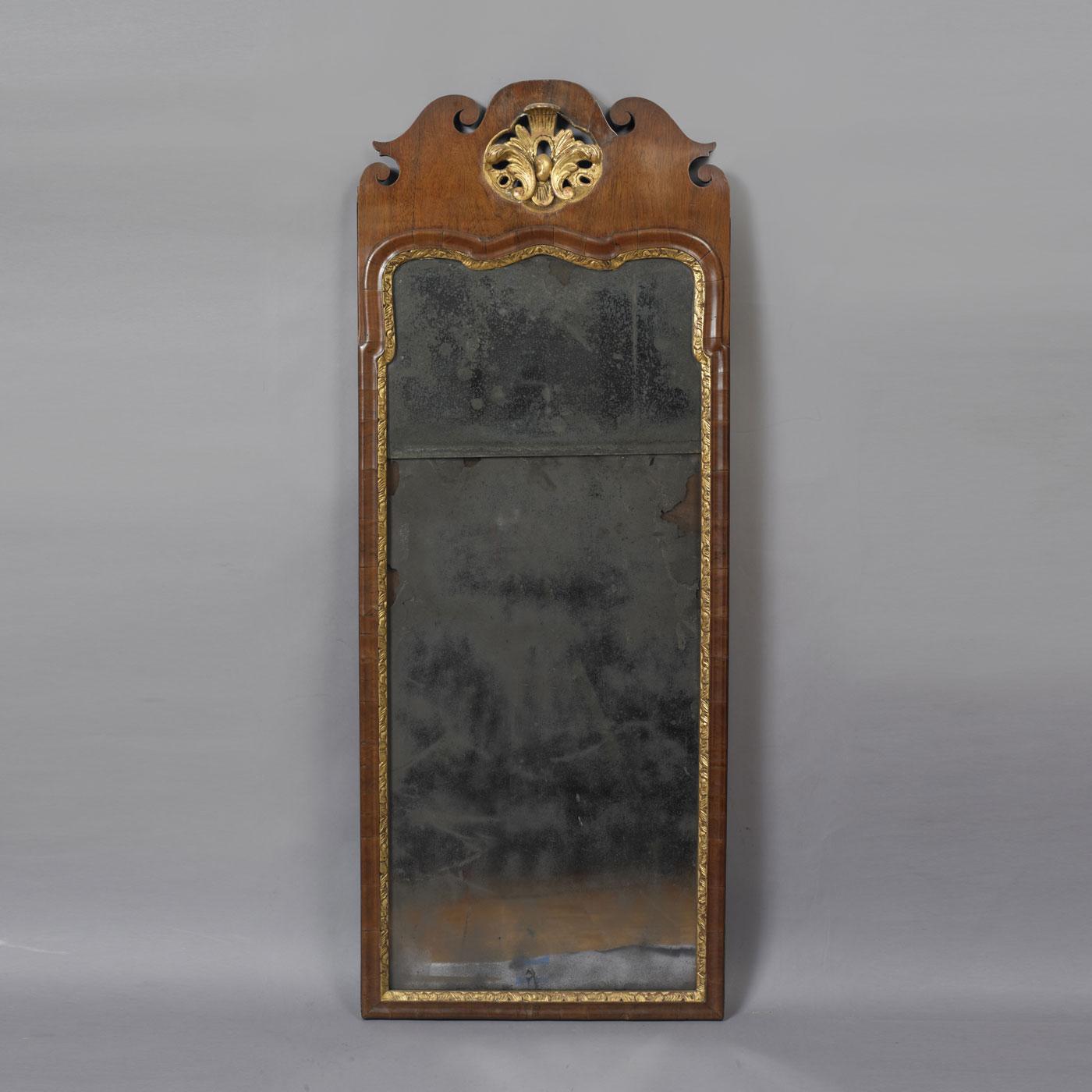 queen anne mirror arched queen anne parcel gilt mirror jeffrey tillou antiques