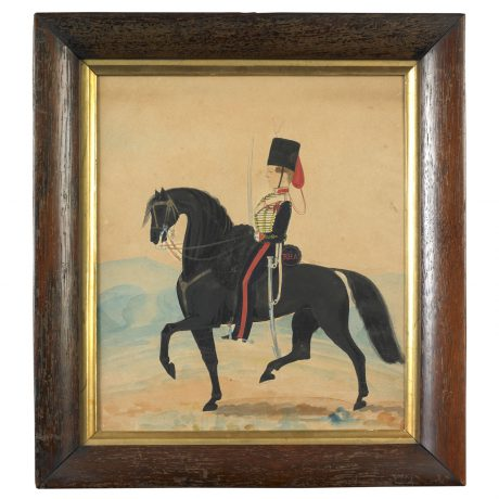 Soldier on a Black Horse