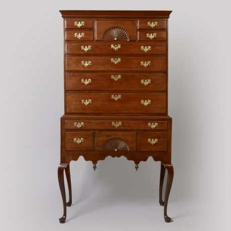 Queen Anne Flat-Top Highboy