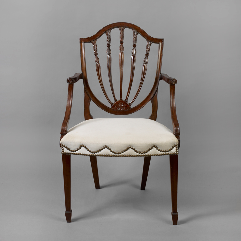Exceptionnel Hepplewhite Shield Back Mahogany Armchair