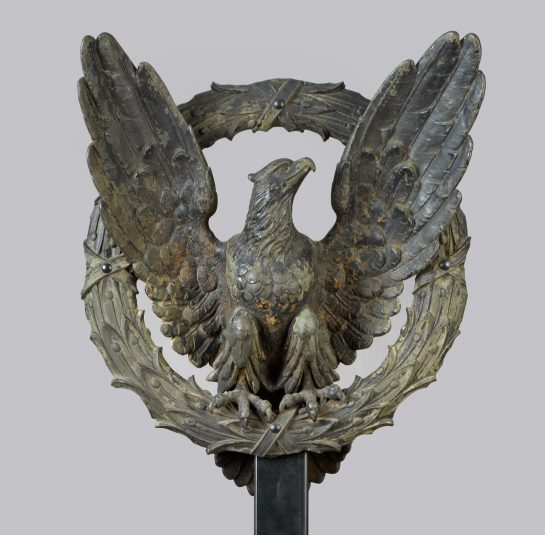 Architectural Eagle and Laurel Wreath Element