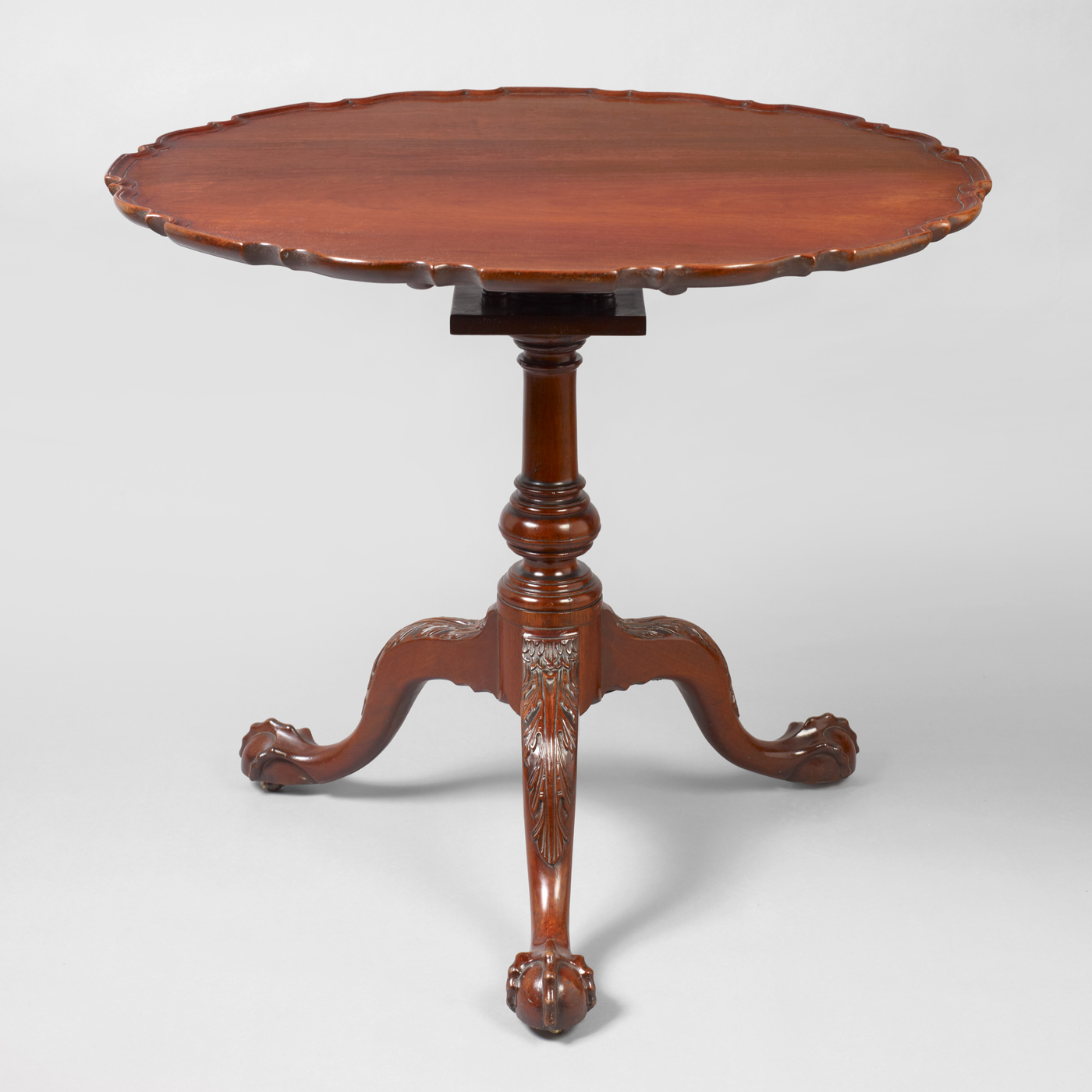 Chippendale Carved Pie Crust Tea Table Jeffrey Tillou