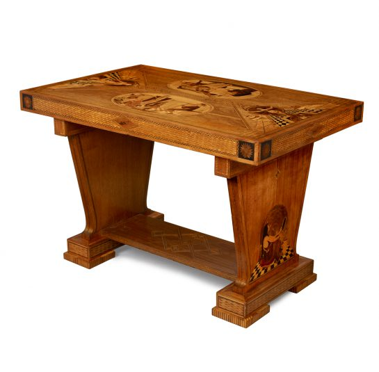 Art Deco Marquetry Center Table