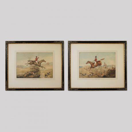 "Henry Thomas Alken, Sr. (British, 1785-1851) ""A pair of Fox Hunting Scenes"""