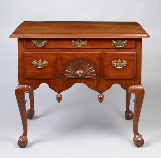 Transitional Chippendale  Carved Lowboy