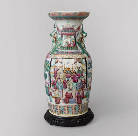 Famille-Rose Oriental Vase
