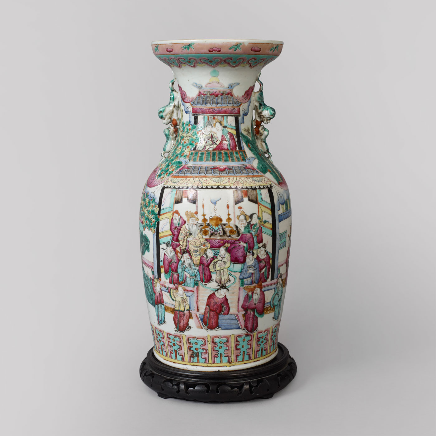 Famille rose oriental vase jeffrey tillou antiques famille rose oriental vase reviewsmspy