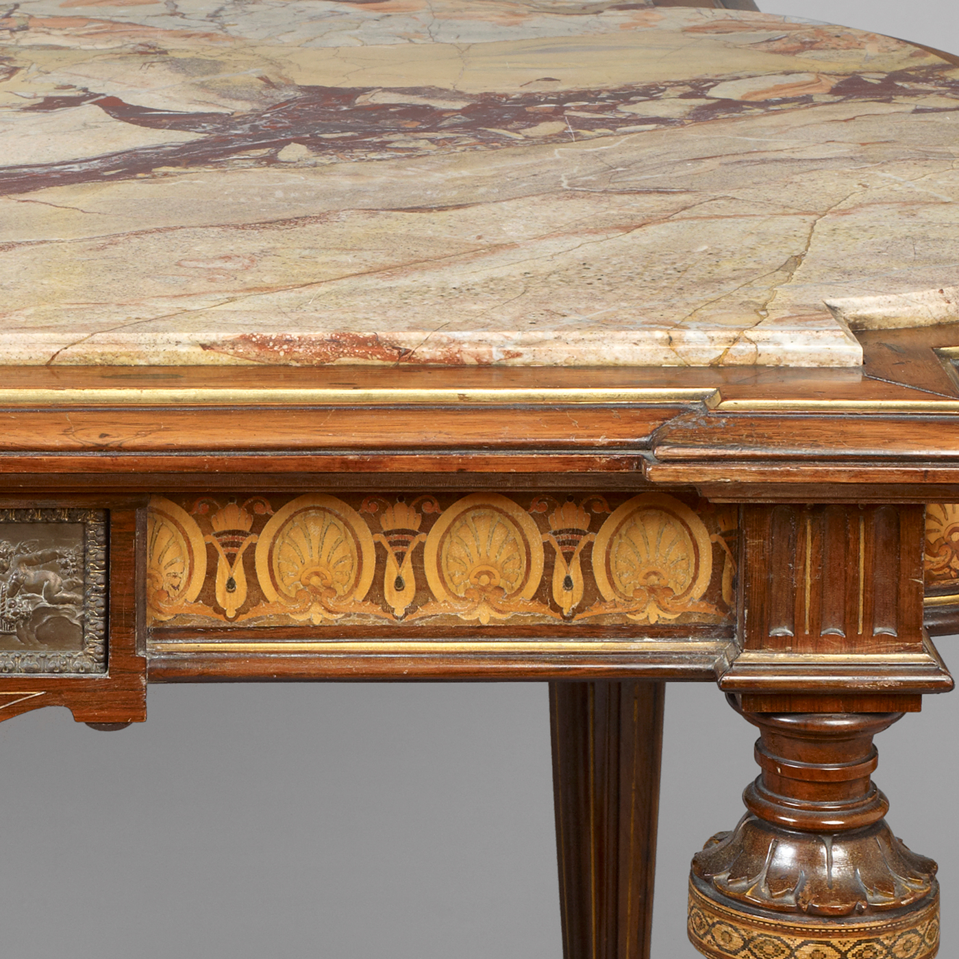 Center Table With Marble Top Attributed To Pottier And Stymus, New York
