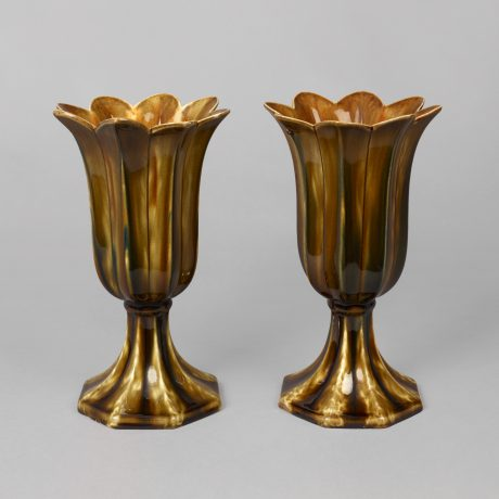 Assembled Pair of Bennington Tulip Vases