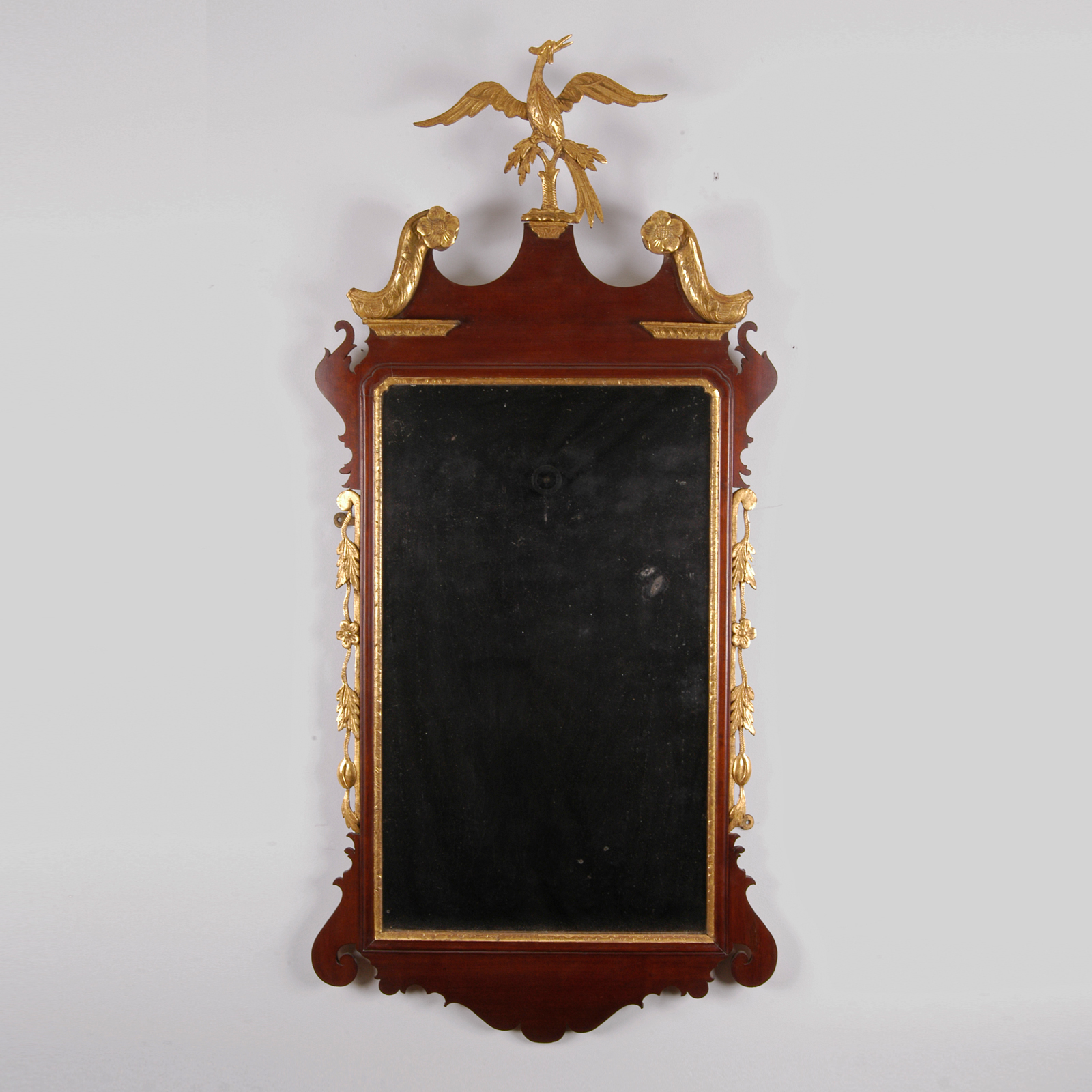 Chippendale Mirror With Carved Phoenix Jeffrey Tillou