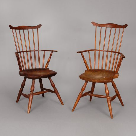 Pair of Windsor Arm Chairs