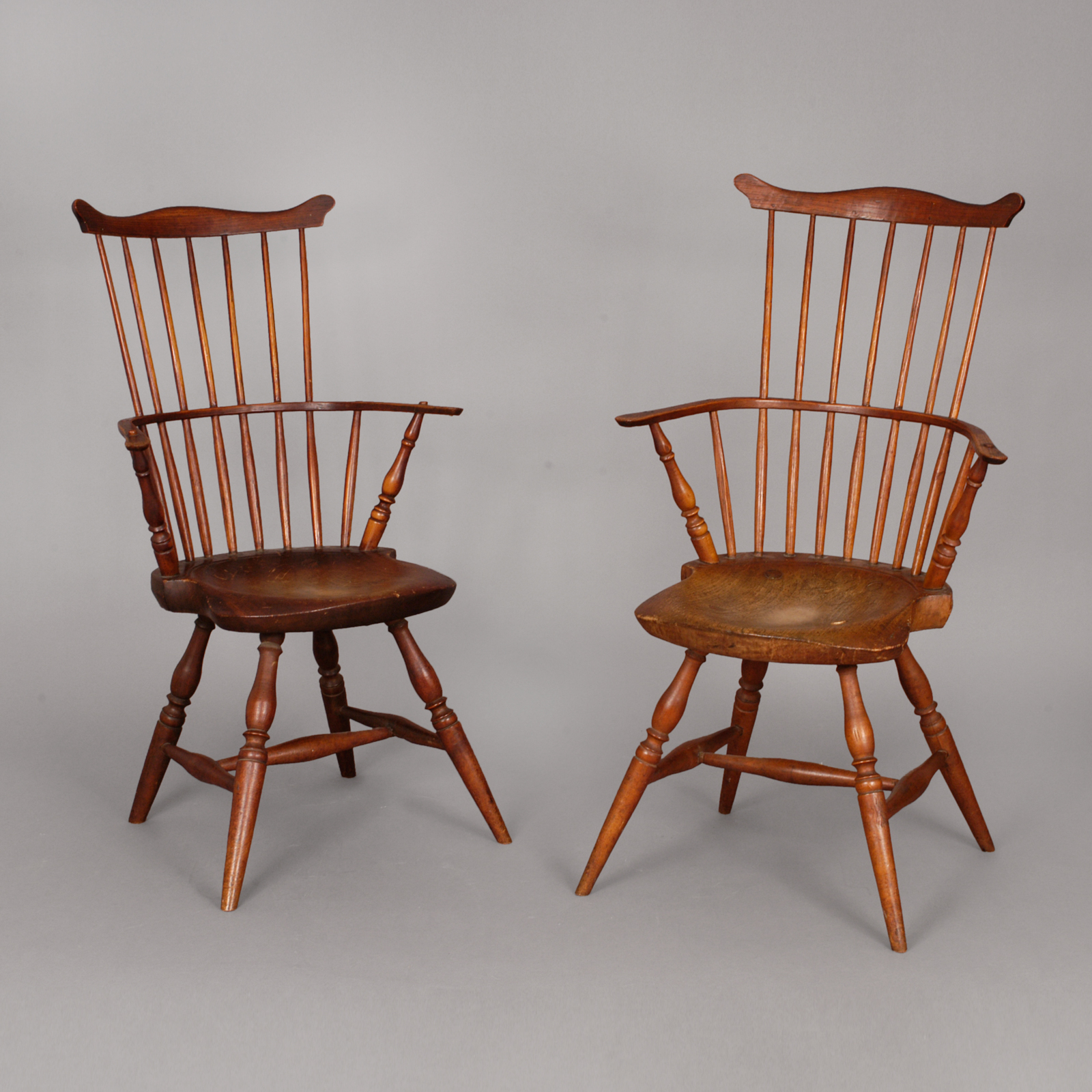 Windsor Arm Chairs ~ Pair of windsor arm chairs jeffrey tillou antiques
