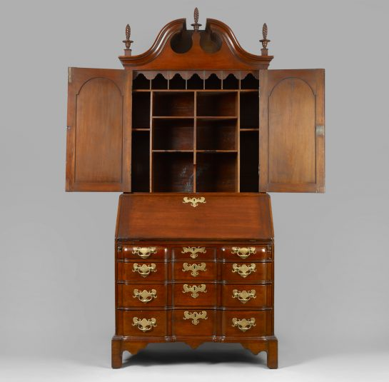 Chippendale Blocked-Front Secretary