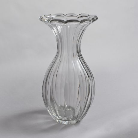 Sweeney Cut Glass Broad Fluted Vase