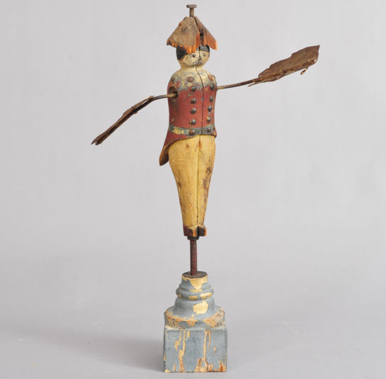 Rare Early Whirligig, Soldier Form, Hessian or Revolutionary War Soldier