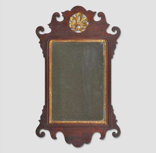 Rare Diminutive-Size Chippendale Mirror