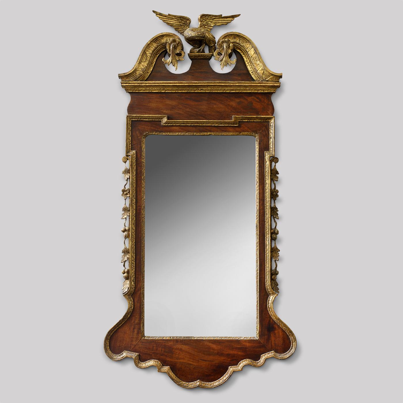 George Ii Scrolled Arch Parcel Gilt Mirror Jeffrey