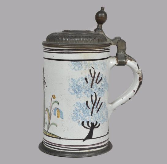 Faience Tankard Jeffrey Tillou Antiques