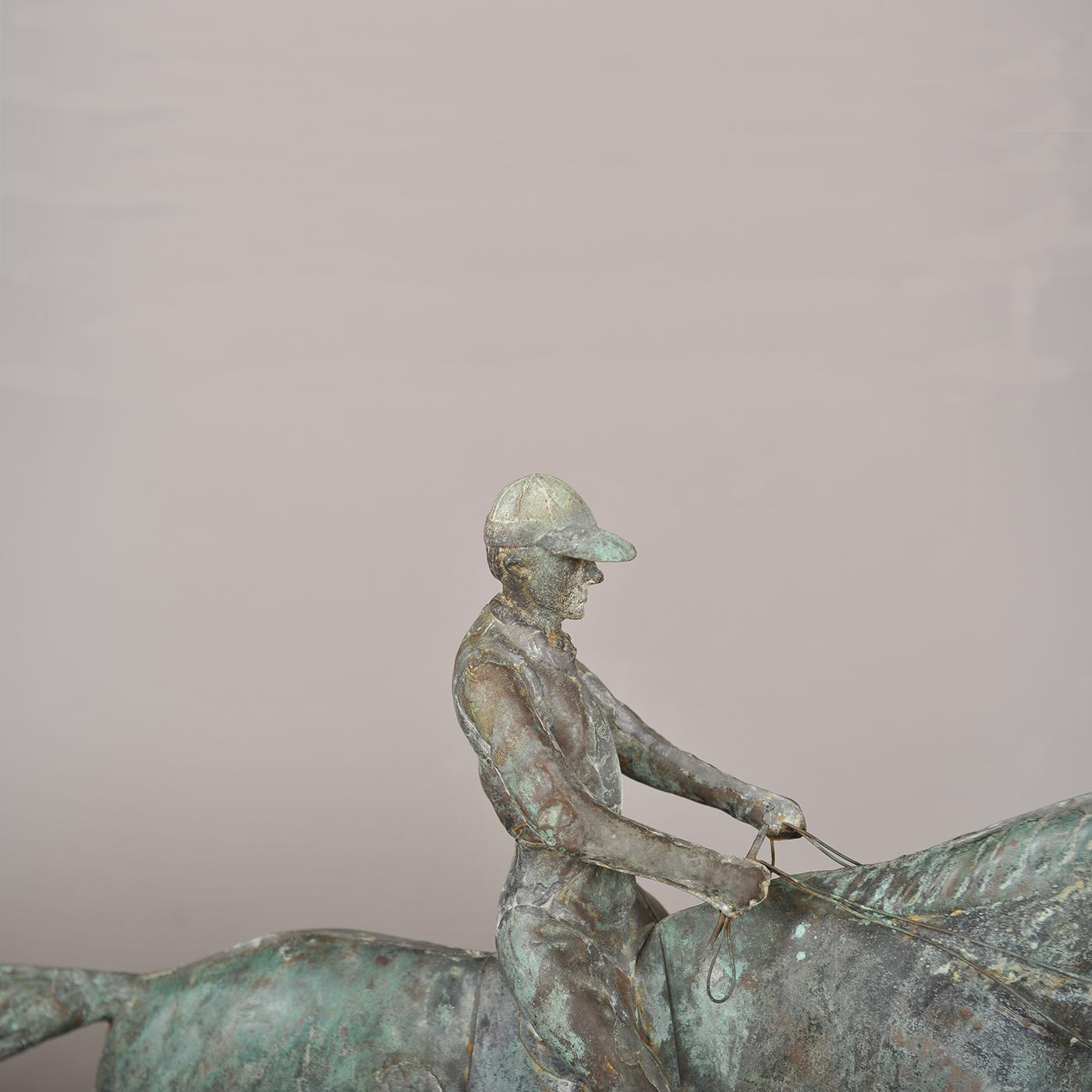 Dexter Horse And Rider Weathervane Jeffrey Tillou Antiques