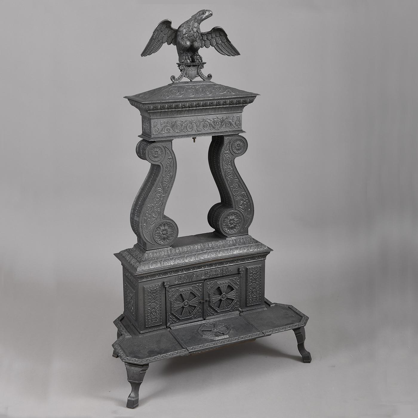 Cast Iron Two Column Parlor Stove Jeffrey Tillou Antiques