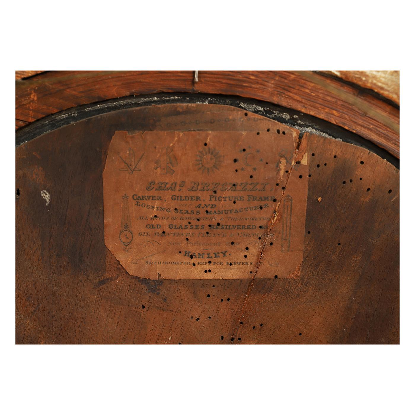 Rare Labelled Convex Mirror • Jeffrey Tillou Antiques